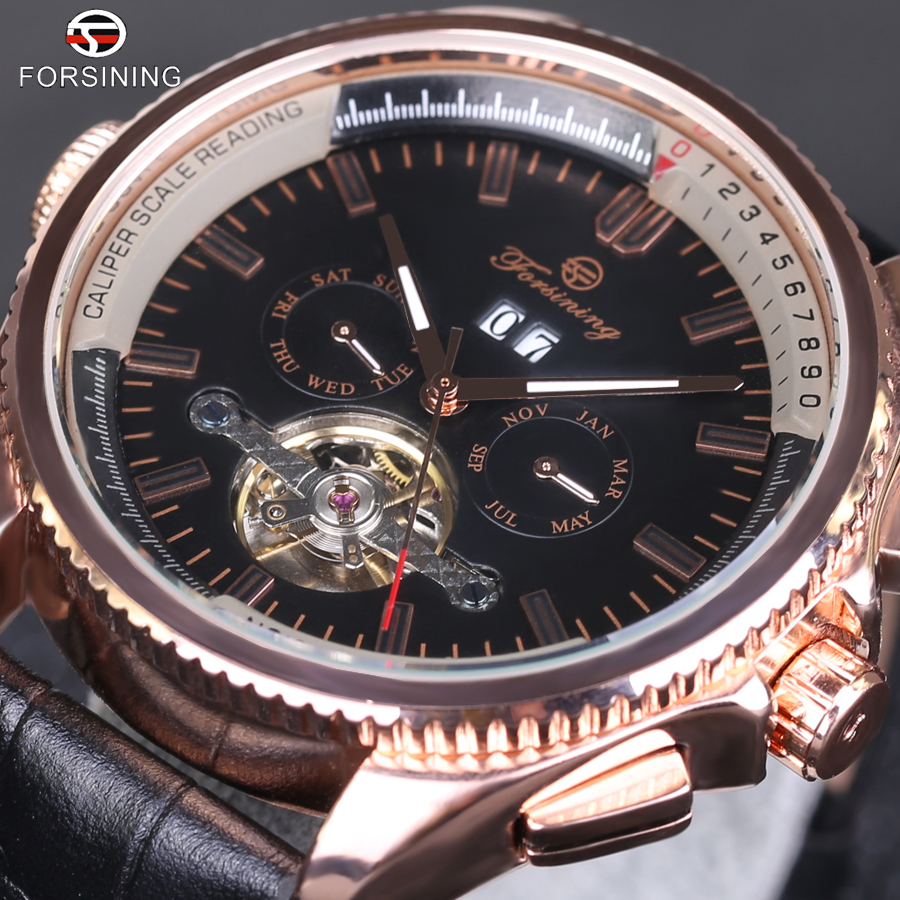 Forsining Automatic Mechanical Mens Watch Top Brand Luxury Montre Homme tourbillon clock leather Casual business wristwatch 2017 mens watches top brand luxury automatic mechanical tourbillon watch men luminous stainless steel wristwatch montre homme
