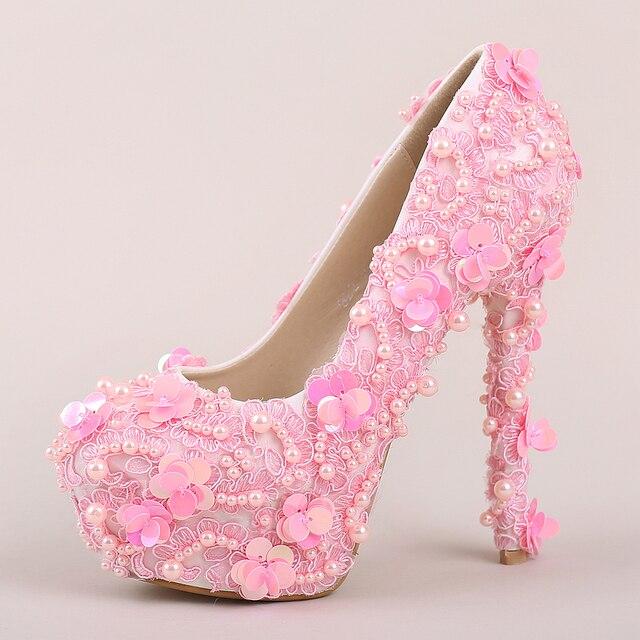 Zapatos rosas de punta redonda oficinas para mujer Q9LxJtLp