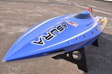 Fiber Glass H750 Brushless RC Boat KIT Model Prepainted Bare Hull Only Blue Without Battery/Radio