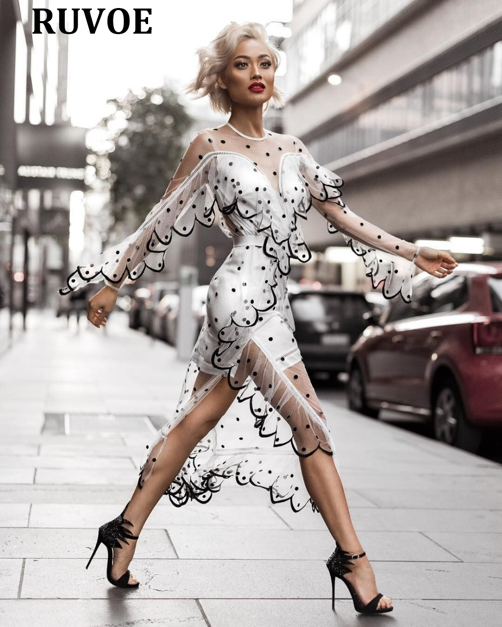 Bandage Qualité Vêtements Fête Blanc 158 Nouvel Rayonne Mode 2018 Vestidos Robe Haute Dentelle Noir Célébrité Q De An Bodycon BwgZpIqxz