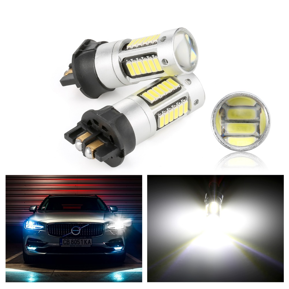 2pcs Canbus PWY24W PW24W LED Bulbs for Audi A3 A4 A5 VW MK7 Golf CC Ford Fusion Front Turn Signal Lights Daytime Running Lamps