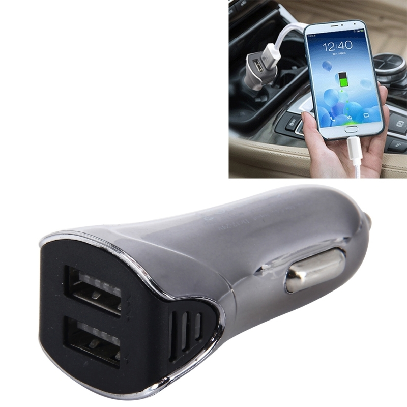 QC Charger Universal 5V 2.1A Dual USB Car Mobile Phone Charger Fast Charging Travel Adapter For iPhone 7 Plus Samsung S8 Huawei