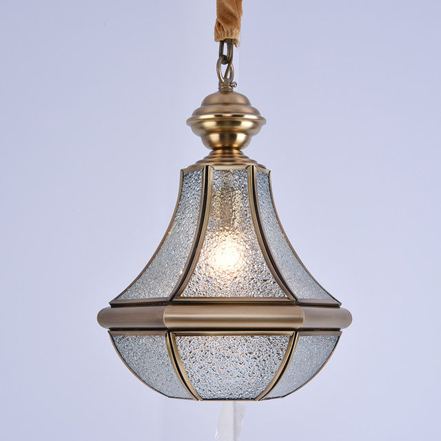Modern Full Copper Pendant Lights creative Art chandeliers Dining - proch