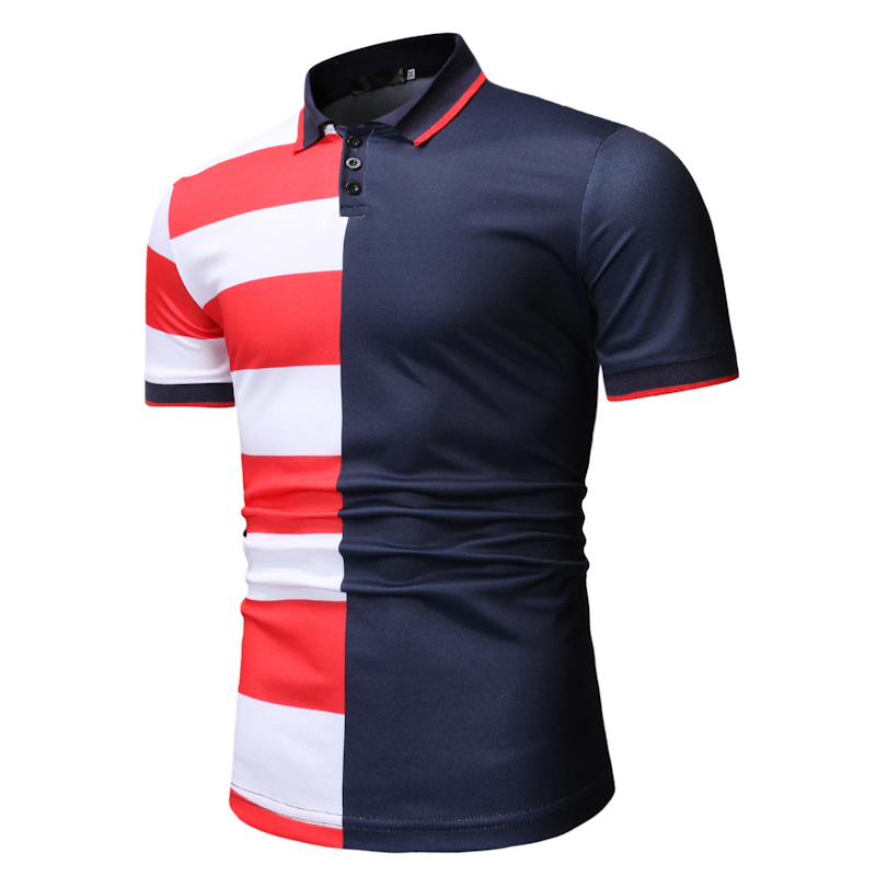 New Men's   Polo   Shirt With Matching Short Sleeves