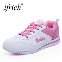 New Arrival Women Running Shoes Lace Up Running Trainers Womens Gray White Athletic Sneakers Lightweight Sports