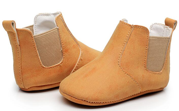 Lovely Baby Boots 2020 New Cute Baby Moccasins Solid PU Leather Handmade Infants Boys Girls Boot 9 Colors Dropshipping