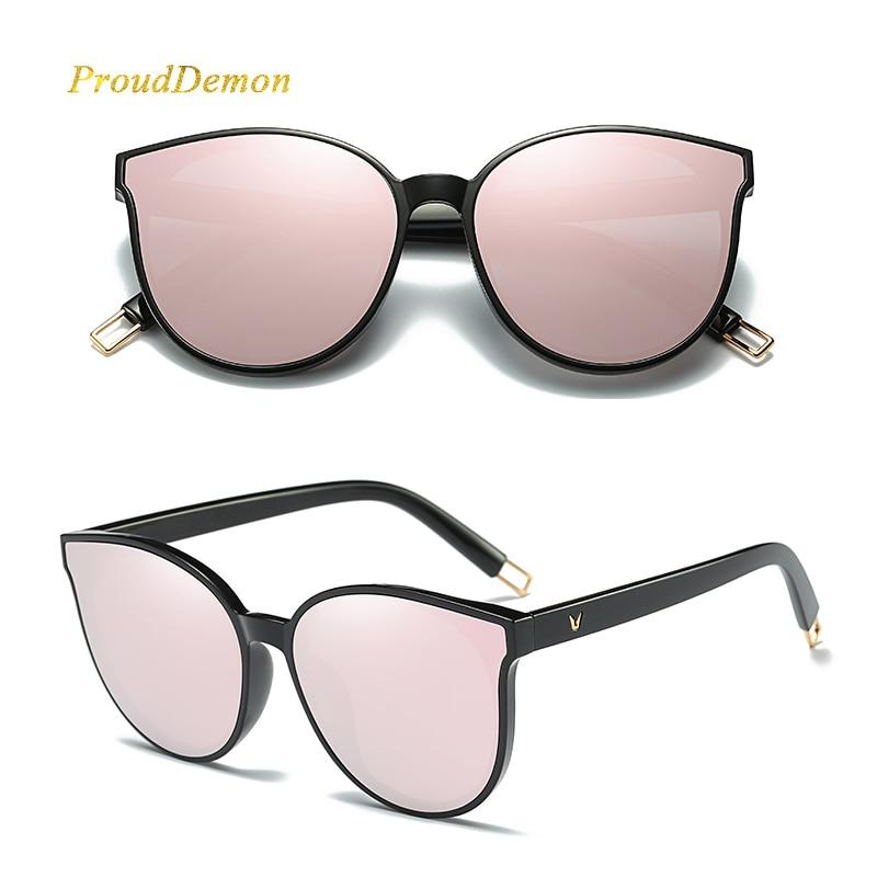 bdaaf717fdf 2018 Fashion Women Colour Luxury Flat Top Cat Eye Sunglasses Elegant oculos  de sol men Twin