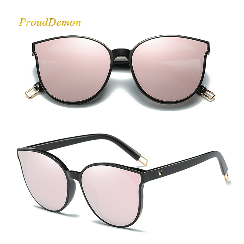 deb3edad04 2019 mode couleur luxe plat Top œil de chat femmes lunettes de soleil  élégant oculos de sol hommes double faisceau surdimensionné lunettes de  soleil UV400 ...