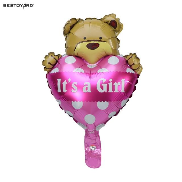 Its A Boy Foil Mylar Balloons Cute Heart Hug Bear Balloon For Baby