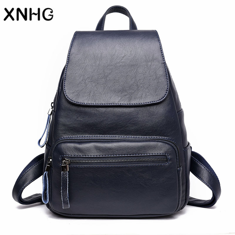 Fashion Leather Vintage Backpack Women Bag School Back Pack Bags For Teenage Girls Female Mochilas Mujer 2017 Ladies Backpack