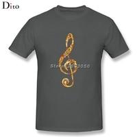 Ornament Music Note Tee Shirt Men Male Summer Custom Short Sleeve Big Size Men S Tee