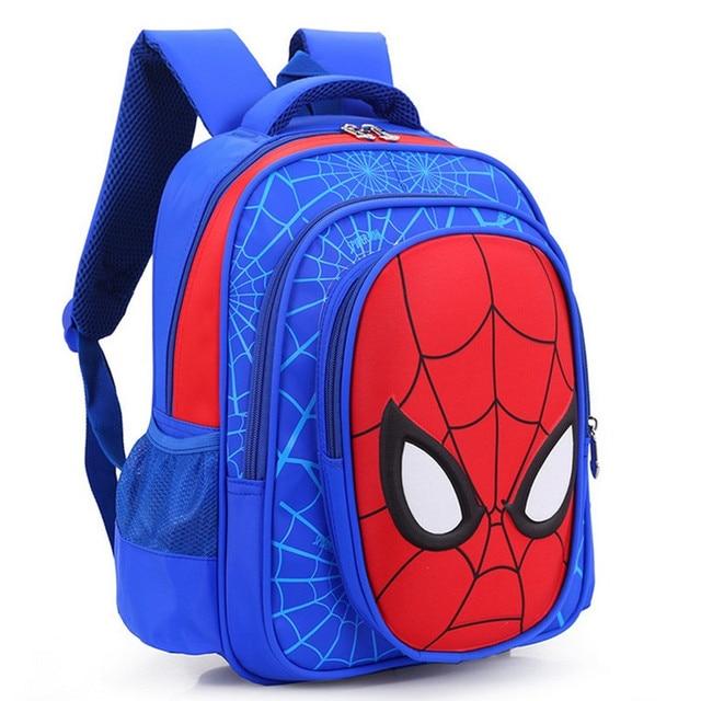 2019 nueva moda 3D Spiderman dibujos animados mochila de alta calidad niños  estudiante 13 pulgadas mochila 12554bbdd78eb