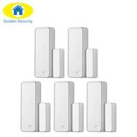 5pcsWireless Alarm Accessories Door Window Gap Sensor 433MHz EV1527 Two Way Intelligent Door Window Sensor For