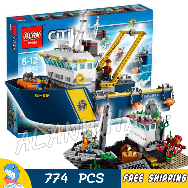 774pcs City Deep Sea Explorers 02012 Model Exploration Vessel Building Blocks Bricks Children Toys Ship Kit Compatible With Lego 774pcs city deep sea explorers 02012 model exploration vessel building blocks bricks children toys ship kit compatible with lego