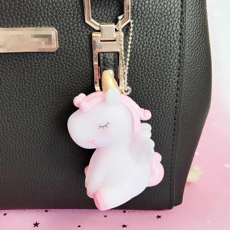 2019 модное ювелирное изделие, горячая Распродажа, милый брелок в виде единорога, животные, ПВХ, брелки для женщин, сумка, очаровательное кольцо для ключей, подвеска, подарки, высокое качество