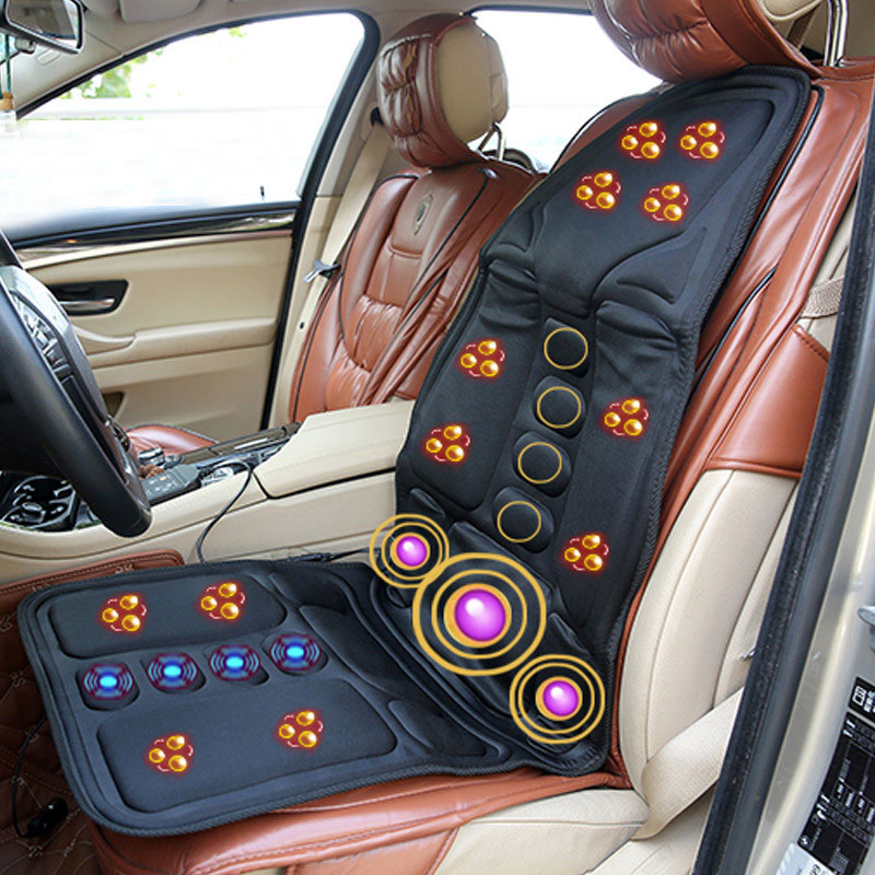 Portable Electric Car Cervical Vertebra Massager Neck Waist Back Massage Bed Lumbar Pad Full Body Massage Vibrator Cushion Chair automobile interior decorations car massage electric waist cushion magnetic vibrating massage lumbar protective hot sale