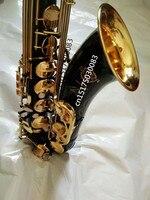 Саксофон тенор 2018 Горячая продажа высококлассный STS R54 Bb Tenor Sax черный саксофон Золотой идеальное качество Бесплатная доставка Saxofone