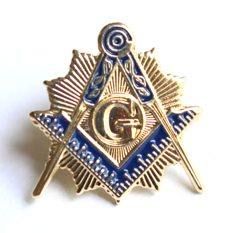 10pcs/lot Masonic pin Mason Lapel Pin Badge with Skull & Bones Symbol  Freemasonry Gift for Freemason