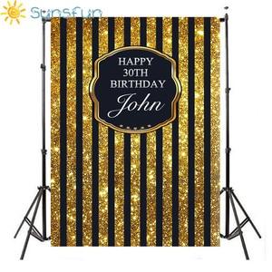 Image 3 - Sunsfun szczęśliwej rocznicy żółte tło dzieci fotografia balon urodziny dziecka tła Studio personalizacja