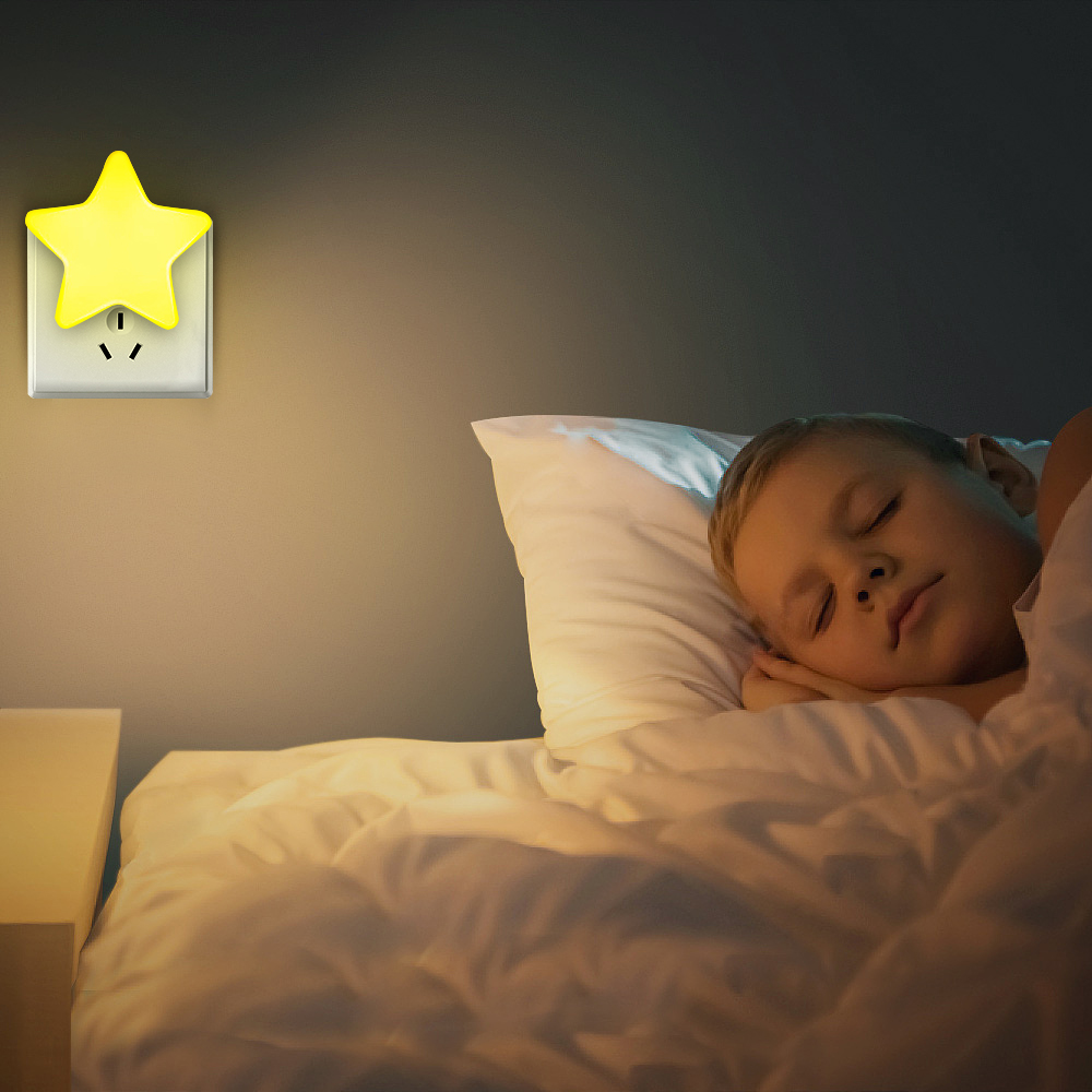Image 5 - 4Color Mini Star LED Night Light With EU/US Plug for Dark Night Baby Sleeping Light Bedside Lamps LED Sensor Control Night Light-in LED Night Lights from Lights & Lighting