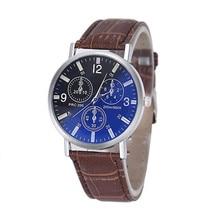 Women Men Watch Fashion Mens Luxury  Faux Leather Analog Blu-Ray Business Wrist Watch Cat free shipping droppshipping sale3*