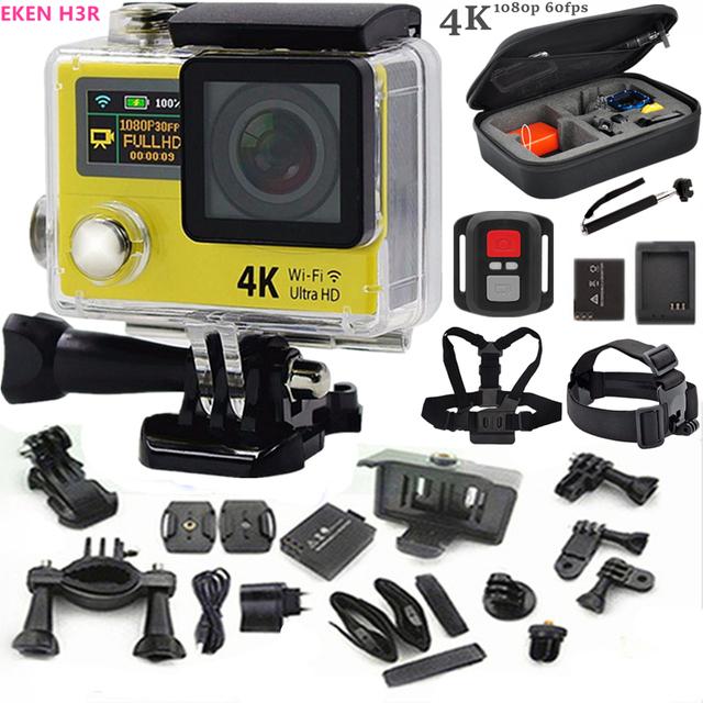 """Câmera de ação Original H3R 4 K ultra HD de 2.0 """"LCD wifi esporte câmera À Prova D' Água 30 m câmera de 170 Lentes ir pro estilo + bateria extra"""