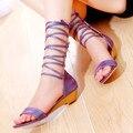 2016 Nova moda Sandalias Mujer Venda Tamanho Grande 34-47 Hot Roman Apartamentos Sandálias Das Mulheres Sapatos de Salto Baixo Verão Boêmio Mulher X102