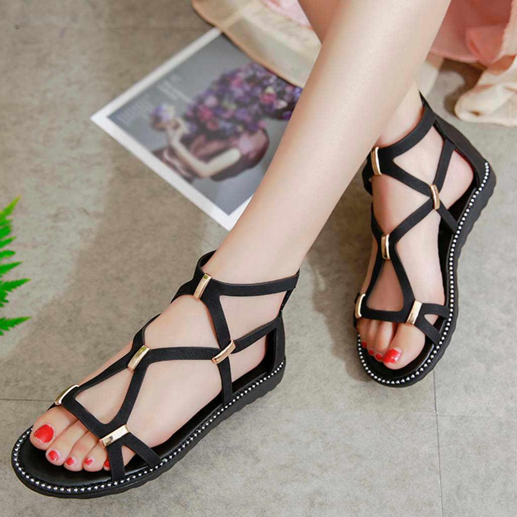 SIKETU ผู้หญิงรองเท้าแตะฤดูร้อนใหม่ wedges รองเท้าผู้หญิงแฟชั่นรองเท้าแตะ Slip-on สายคล้องรองเท้า sandalias mujer 2019 # G35