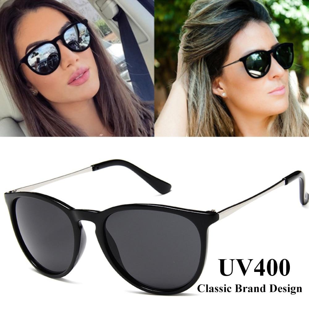 Óculos de sol olho de gato vintage designer de marca feminina óculos de sol feminino proteção raios espelhados 2019