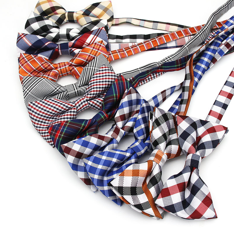 Brand New Men Fashion Classic Plaid Bowtie Neckwear Adjustable Mens Bow Tie Polyester For Wedding England Style Neck Ties