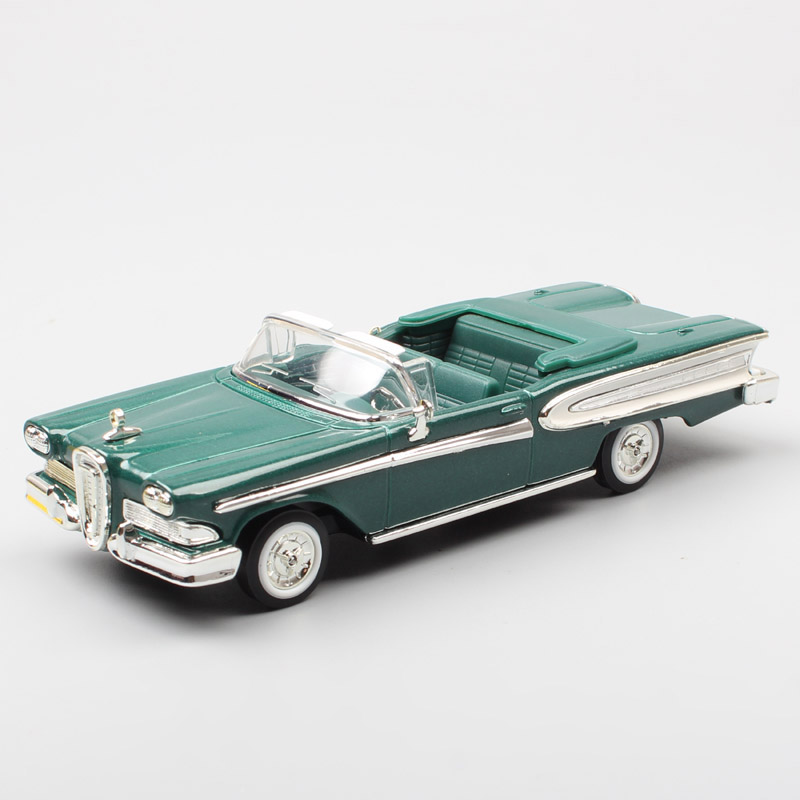 1/43 Old Retro 1958 Ford Edsel Citation Convertible Small Car Scale Diecast & Vehicles Models Souvenir Toy Cars For Children Boy