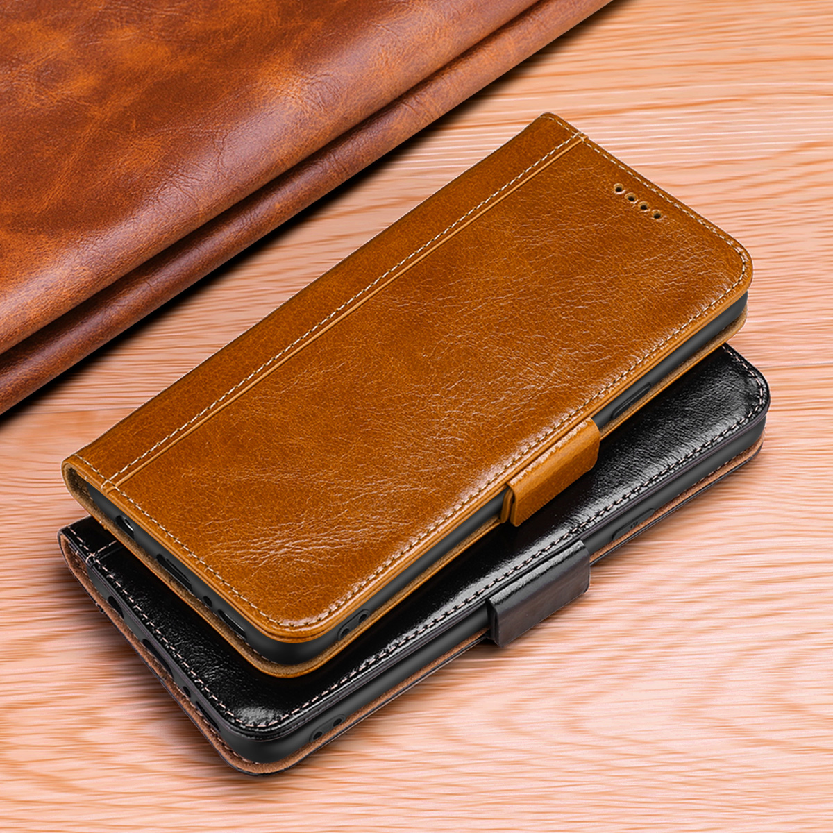 Huawei Mate RS 20 10 9 Pro Genuine Leather Case Vintage Wallet Auto Sleep/Wake Folio Flip Cover Kickstand Feature Card Slots-in Wallet Cases from Cellphones & Telecommunications