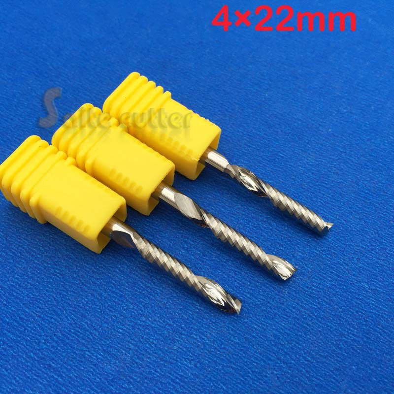 4MM Dia.22MM AAA Cutting Length 5pcs High Quanlity Tungsten Carbide Single Flute Cutter End Mill, CNC Router Bits, Cutting Tools