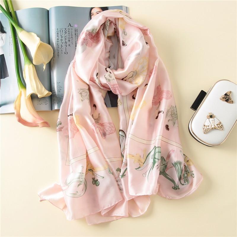 wholesale price print summer women scarf fashion silk scarves for women shawls and wraps soft pashmina bandana 180*90cm