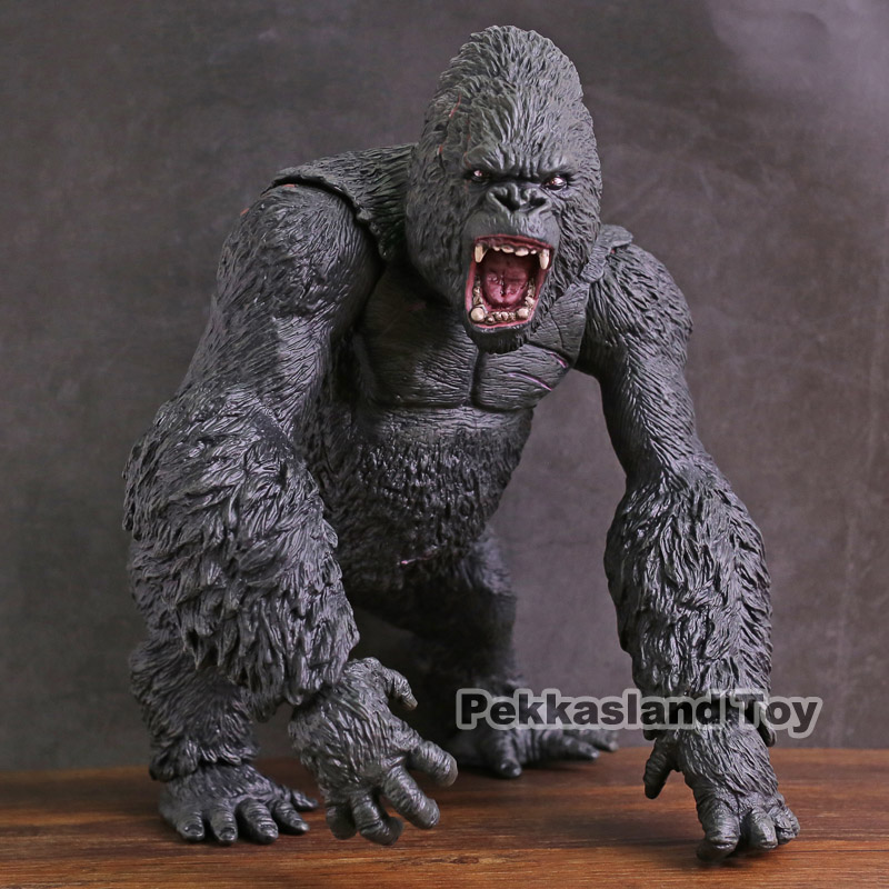 Super BIG ! King Kong Action Figure king kong skull island Chimpanzee Model Action Figure Collectible Model Toy Gift black orangutan 75x85cm chimpanzee plush toy black king kong doll gift w4663