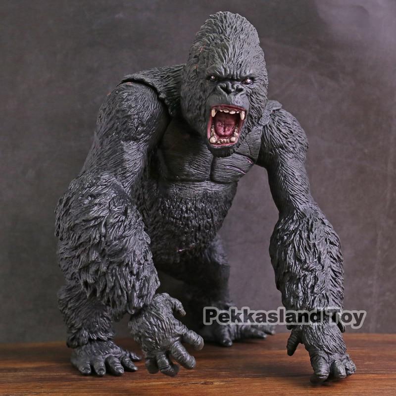 Super GRAND! Roi Kong figurine d'action roi kong crâne île chimpanzé modèle figurine d'action à collectionner modèle jouet cadeau