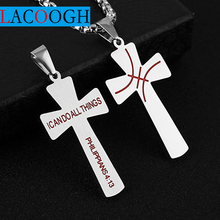 Christian Titanium Stainless steel Cross Simple Necklace for Men Women Crucifix Jesus Pendant Necklaces F11805 men titanium steel overbearing tiger head pendant necklace so235
