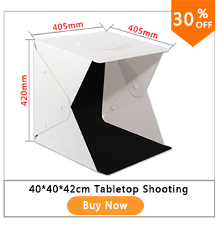 Dual LED Panels Folding Portable Photo Video Box Lighting Studio Shooting Tent Box Kit Emart Diffuse Studio Softbox lightbox