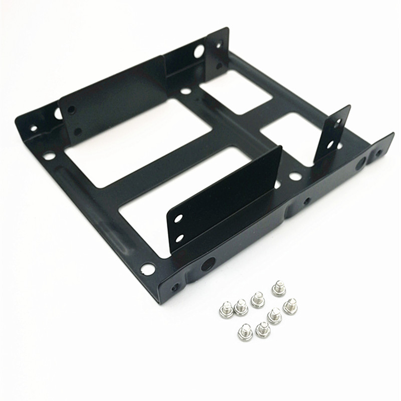 """2.5""""SSD/Hard Drive To 3.5"""" Drive Bay Adapter Mounting Bracket HDD Converter Tray, Support 2pcs SSD Drive"""
