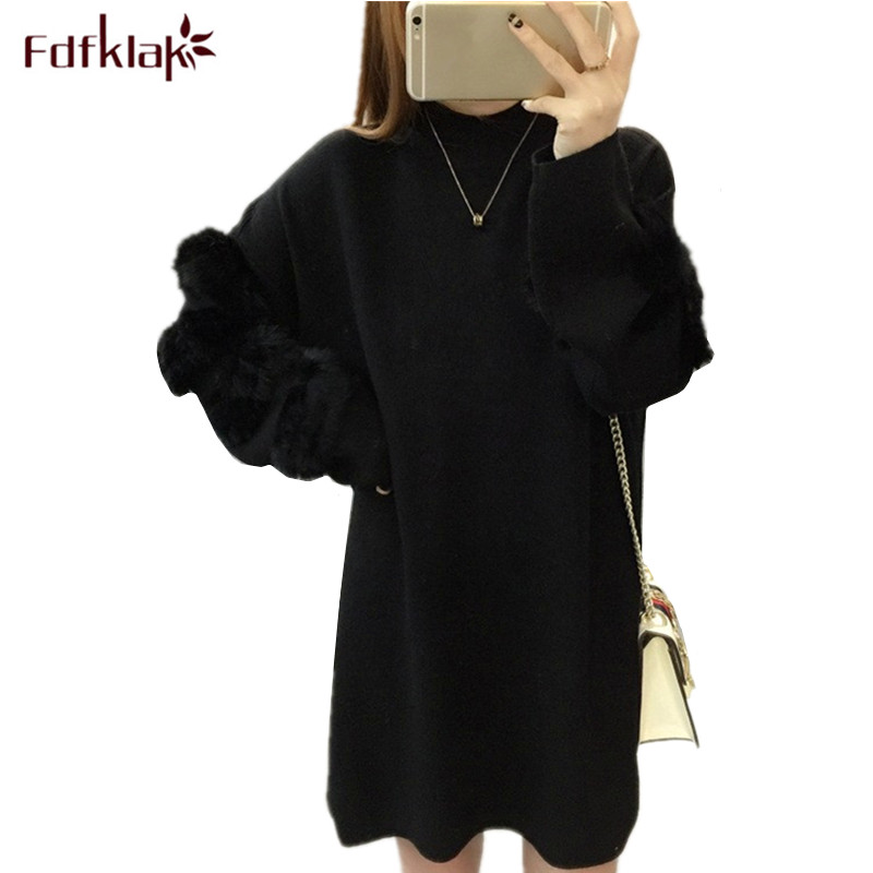 цена Fdfklak Casual new sweater for pregnant women autumn winter long sweaters maternity clothing woman knitted pregnancy tops