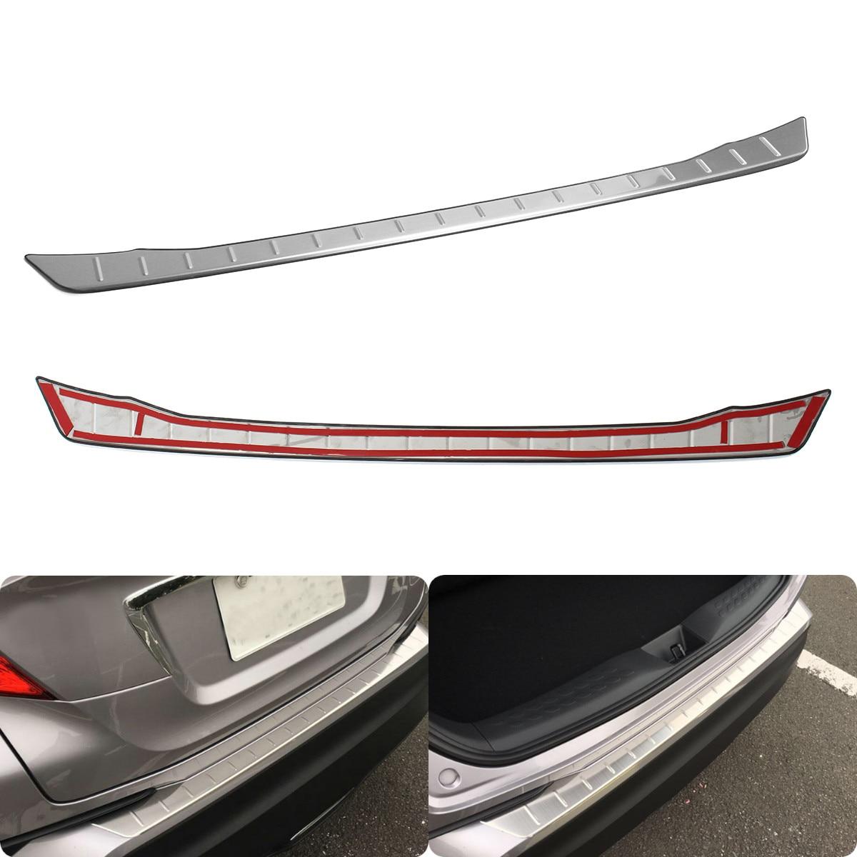 Garniture de plaque de protection de plaque arrière d'aile de roue de garniture de coffre arrière d'acier inoxydable pour Toyota CHR 2016 2017 2018