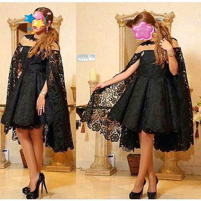 Robe De Soiree Abiye Black Formal Dresses Lace Vestido De Festa