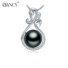 Natural freshwater pearl pendant necklace for women 925 sterling silver Phoenix engagement fine jewelry gift все цены