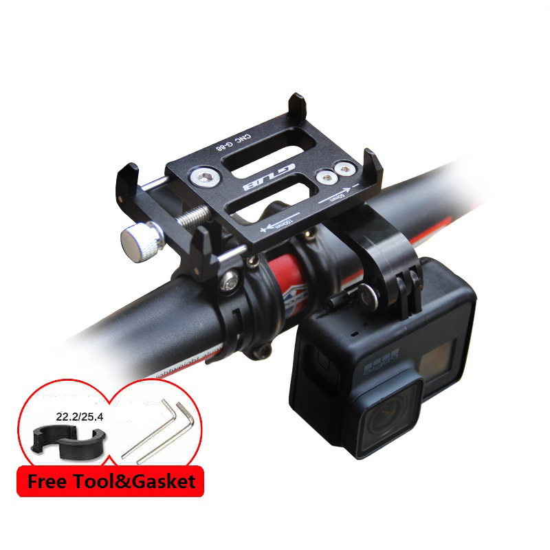 GUB G-88 Versatile Aluminum Bicycle Motorcycle GPS Phone Mount Holder For 3.5-6.2 Inch Phone Bracket Support Bike Sport Camera