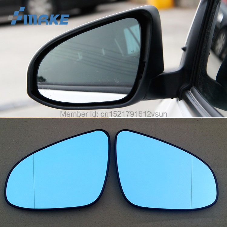 smRKE 2Pcs For Toyota Yaris L Rearview Mirror Blue Glasses Wide Angle Led Turn Signals light Power Heating