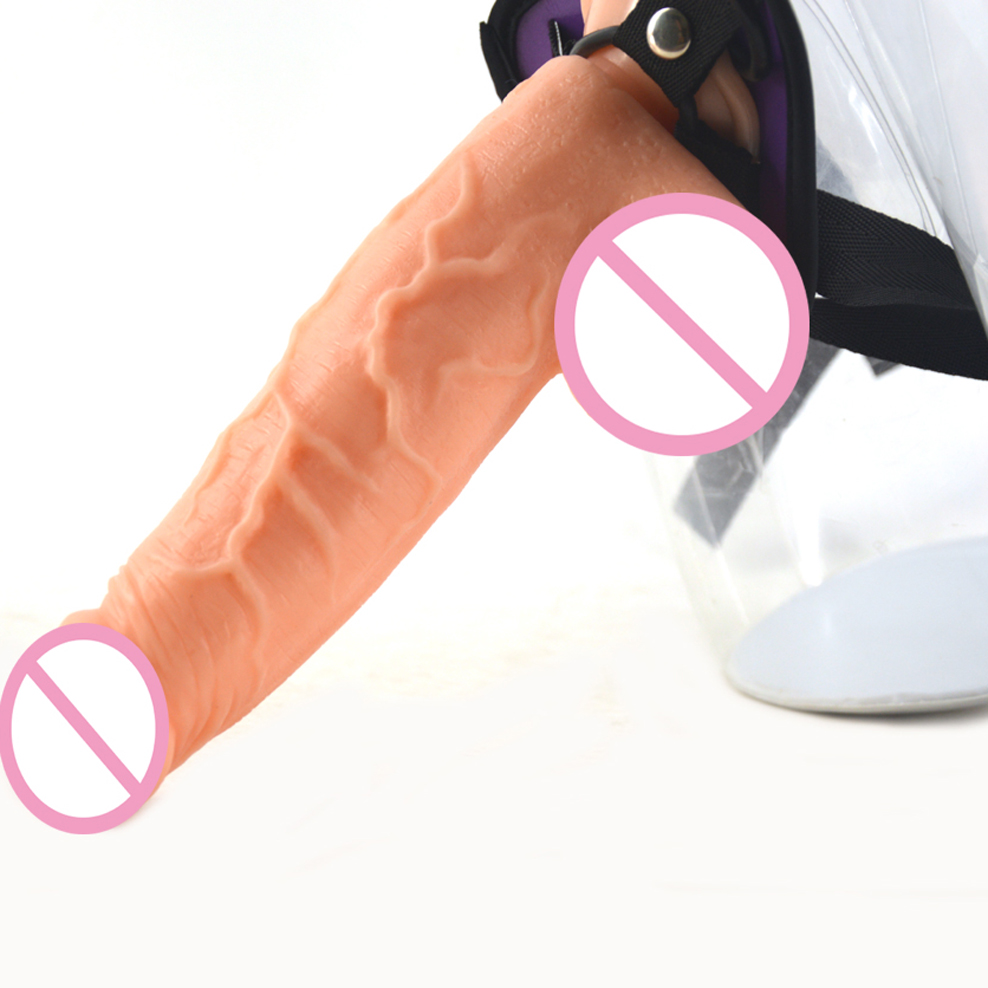 FAAK Strapon dildo realistic dildo strap on penis big dildo dick removable belt adjustable sex toys for women masturbate toys in Dildos from Beauty Health