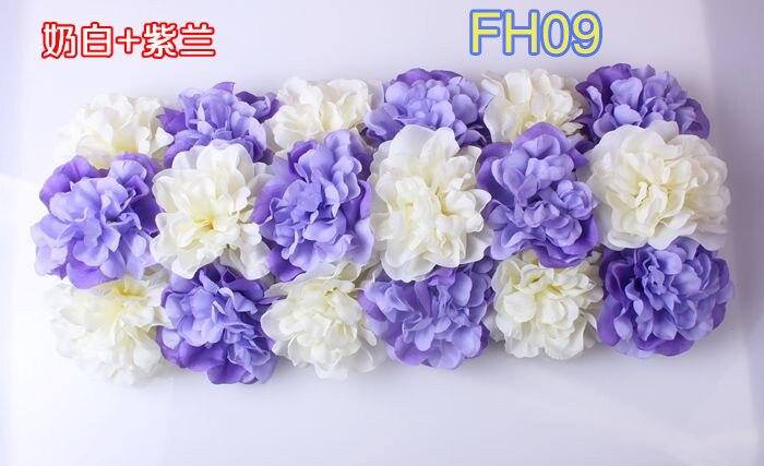 Свадебные композиция свадебные искусственные шелковые свадебные розы арки цветок Свадебные украшения цветок ряд цветок кадр 10 шт./лот - Цвет: FH09