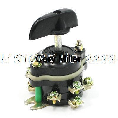 Black Rotary 3 Positions Combination Changeover Switch 380V 10A 2P3T changeover switch lw6 1 a028 10a 380v universal changeover combination switch one knots lw6