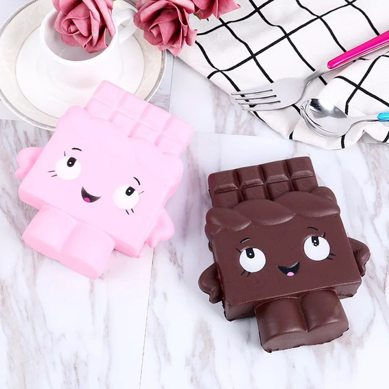Squash Anti-stress 1 PCS 7cm Squishy Cartoon Waffle Slow Rising Scented Squeeze Toy Collection Cure Gift Kawaii Kids Adult Toy