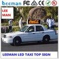 Такси светодиодный экран Leeman на верхней или крыши автомобилей или кабины для цифровой рекламы Открытый водонепроницаемый такси крышу, full led цвет